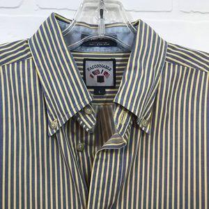 Faconnable Button Down Sz L Stripe Long Sleeve